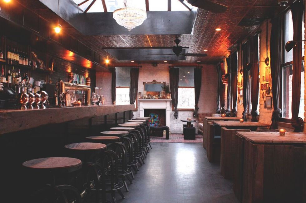 The interior of The Garret in NYC.