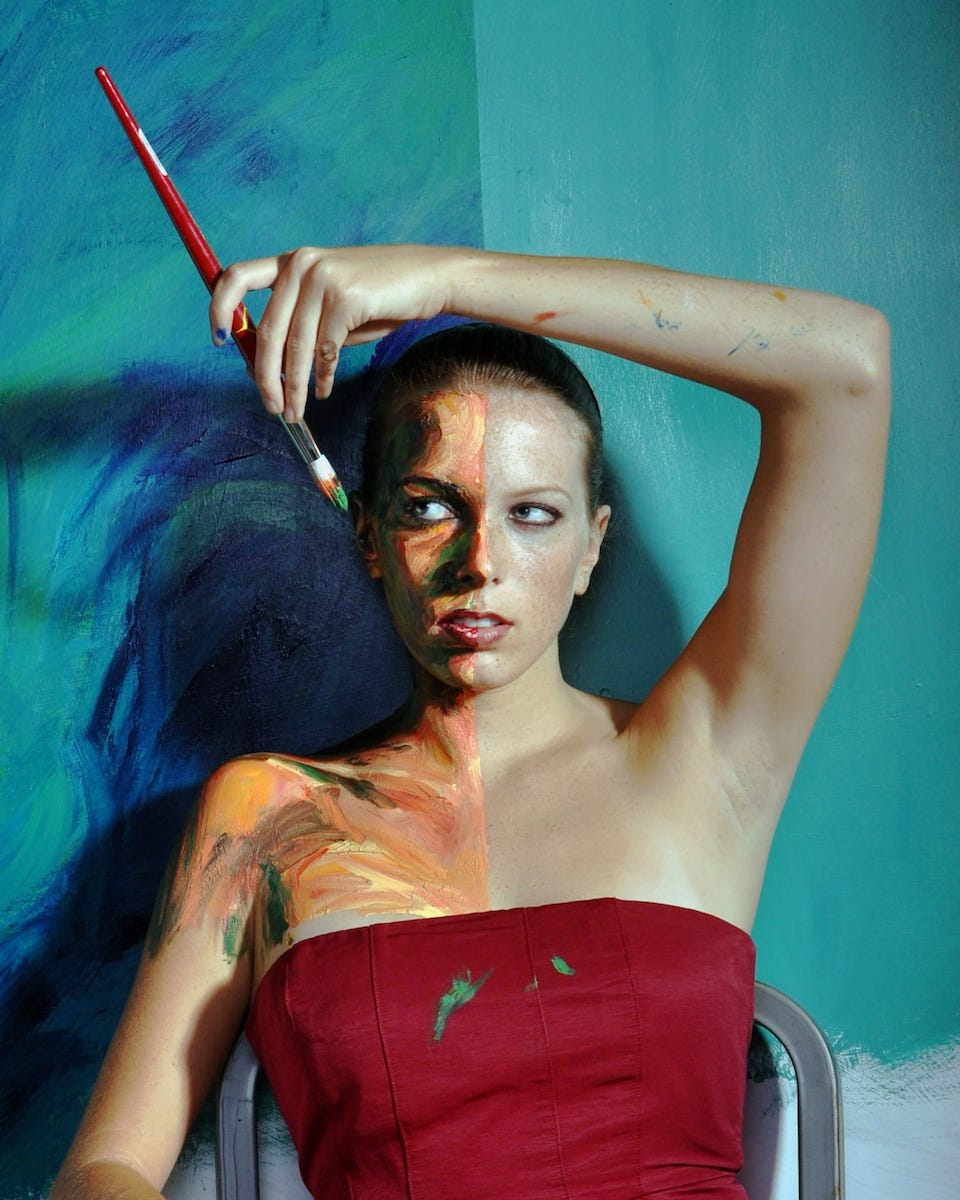 Alexa Meade in the self-portrait Double Take, 2010