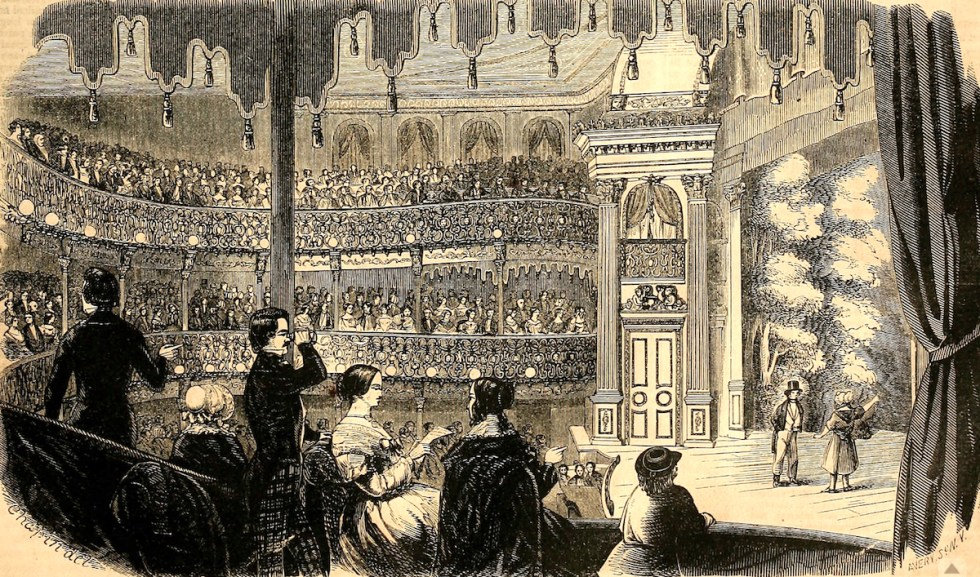 The Lecture Room of Barnum's American Museum, 1853.