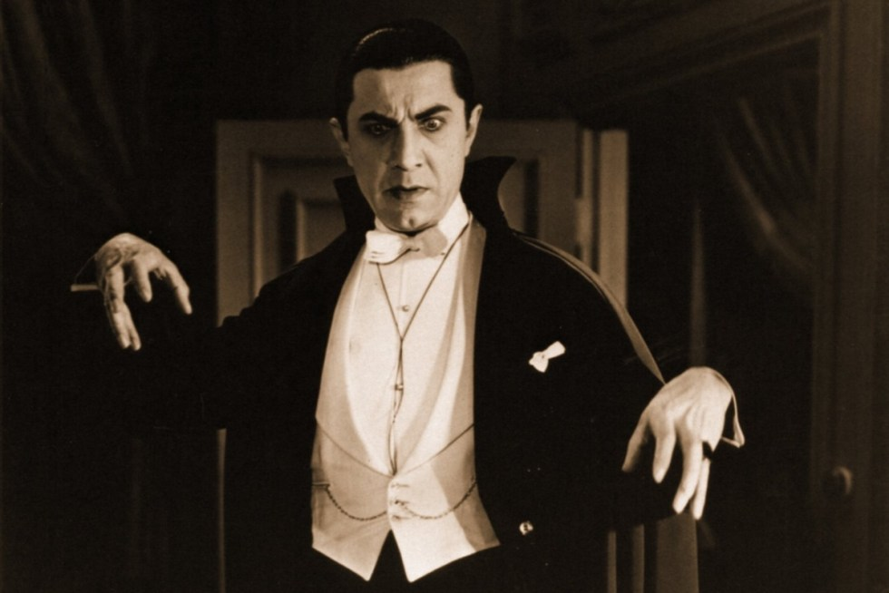 Hungarian-American actor Bela Lugosi portraying Count Dracula in the 1931 film.