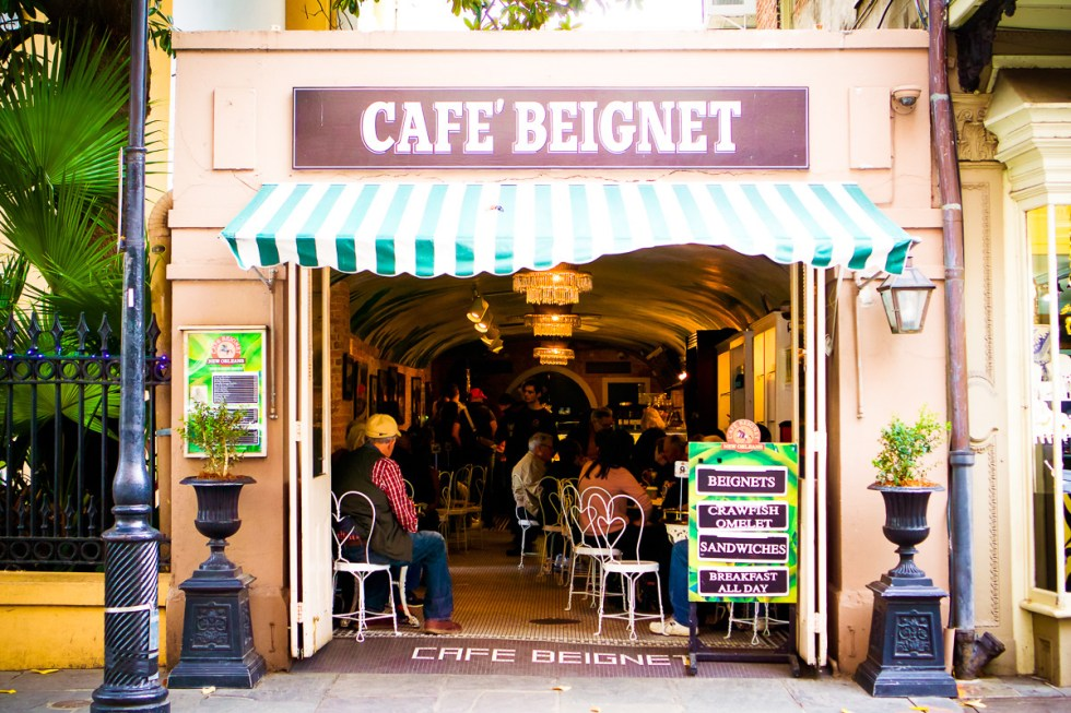 Café Beignet at 311 Bourbon Street in New Orleans, Louisiana.