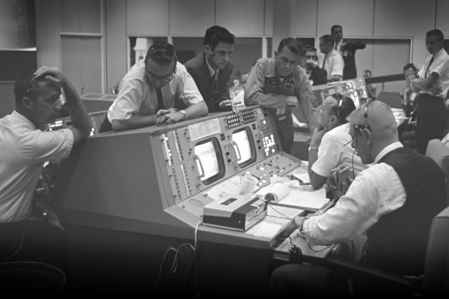 A glimpse to the past of Historic Mission Control,NASA Johnson Space Center, Houston, Texas
