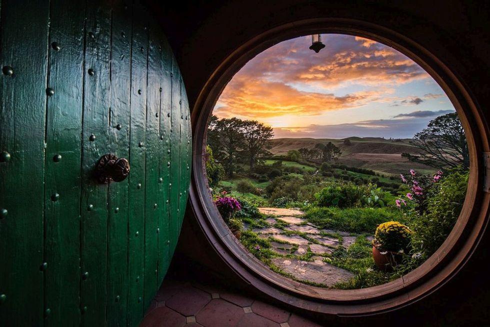 Inside a Hobbit house, The Hobbiton Movie Set, New Zealand