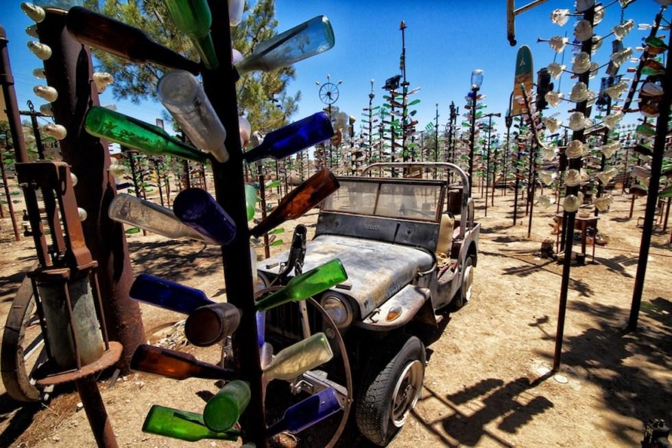 """Bottle Tree Ranch"" in California, USA."