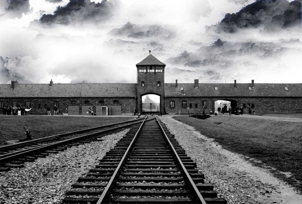 The entrance to the German Nazi Auschwitz camp in Oświęcim, Poland.