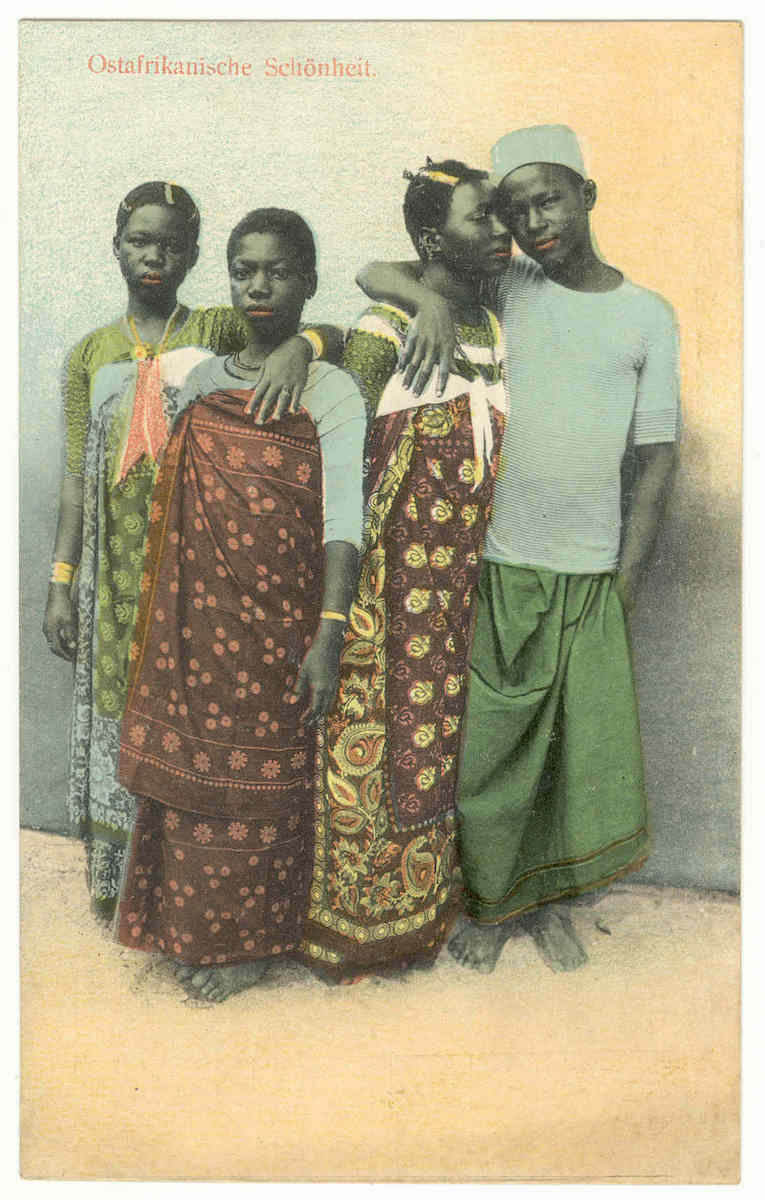"Goan artist, ""East African Beauty"" Zanzibar, Tanzania, Early 20th century, Hand-colored collotype, Private collection (Courtesy: Smithsonian)"