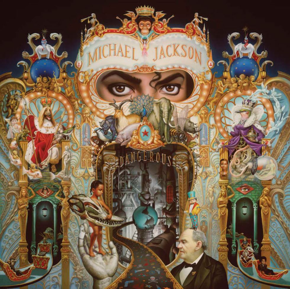 "Mark Ryden's creation for Michael Jackson's cover of his 1991 album ""Dangerous."""