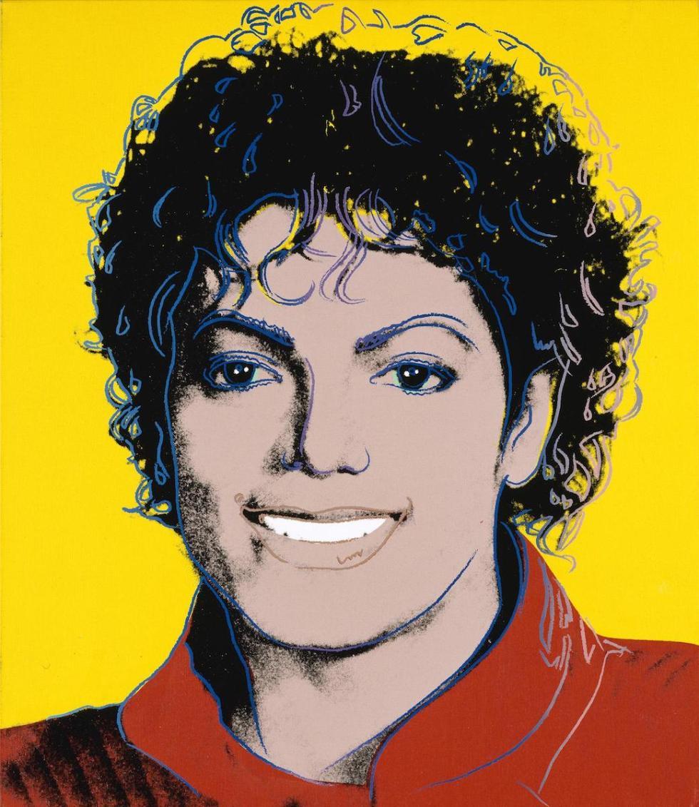 """""""Michael Jackson,"""" Andy Warhol, 1984."""