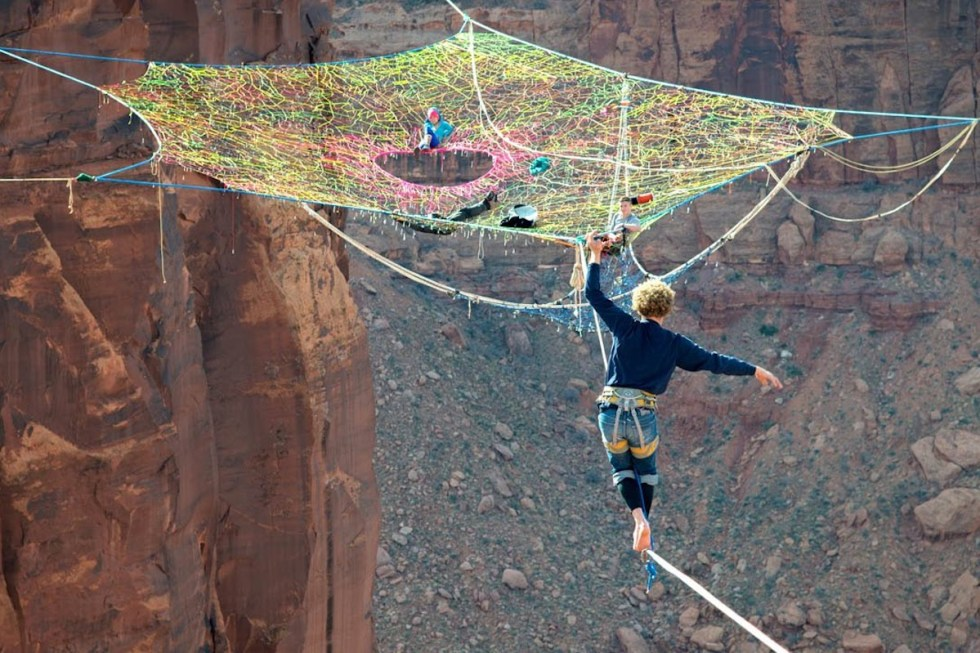 """Mothership Space Net Penthouse"" in Moab, Utah."