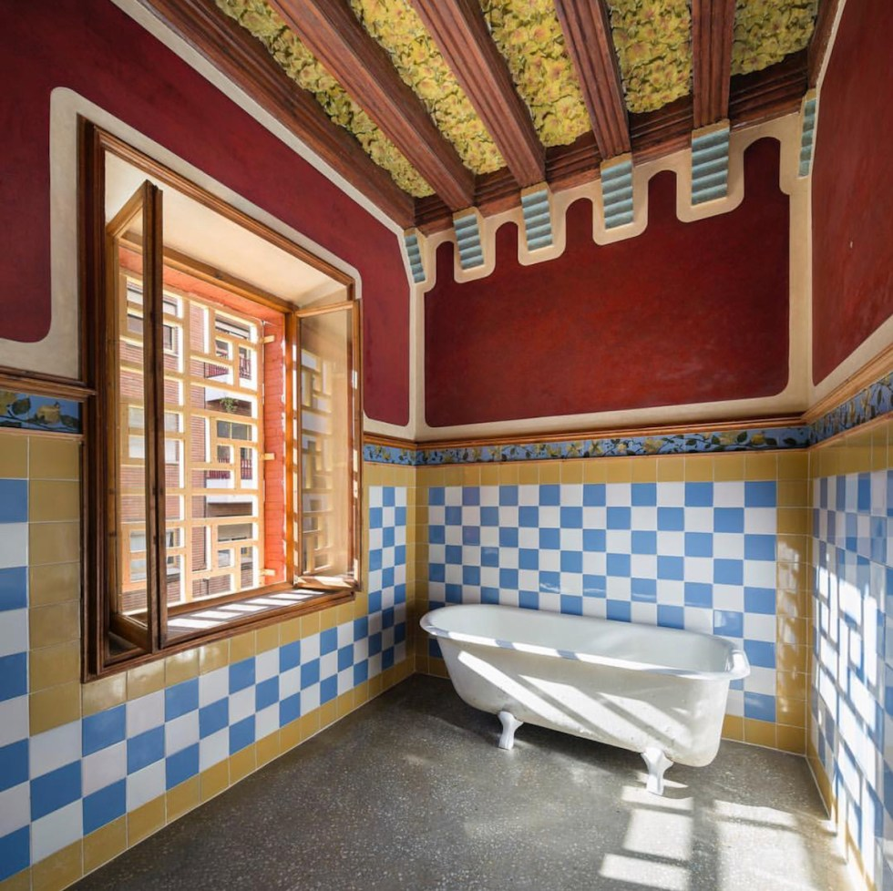 Inside Casa Vicens in Barcelona, Spain.