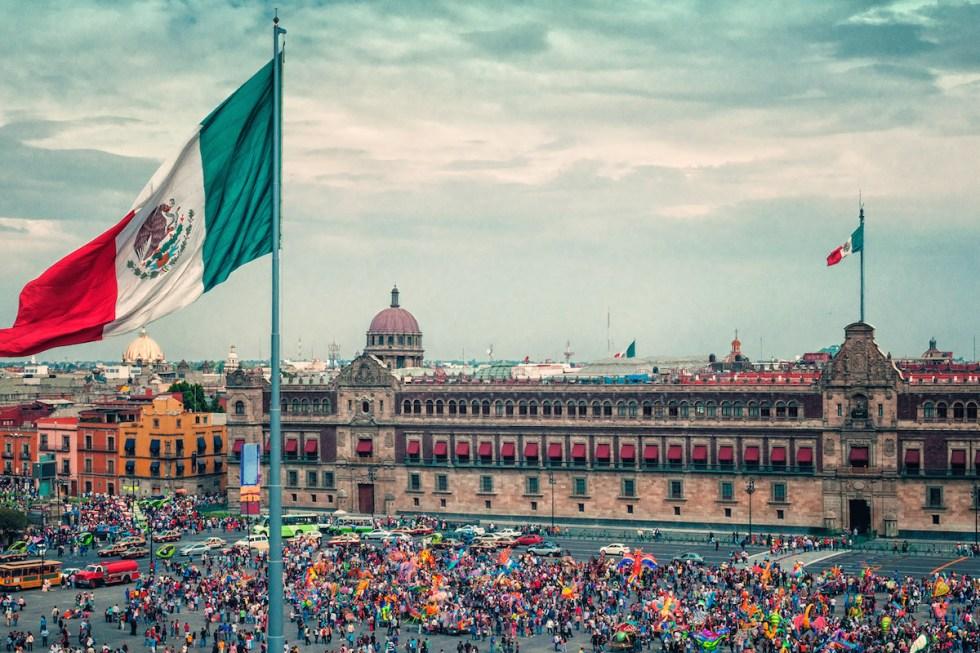 Zocalo, Plaza de la Constitucion, Mexico City, Mexico