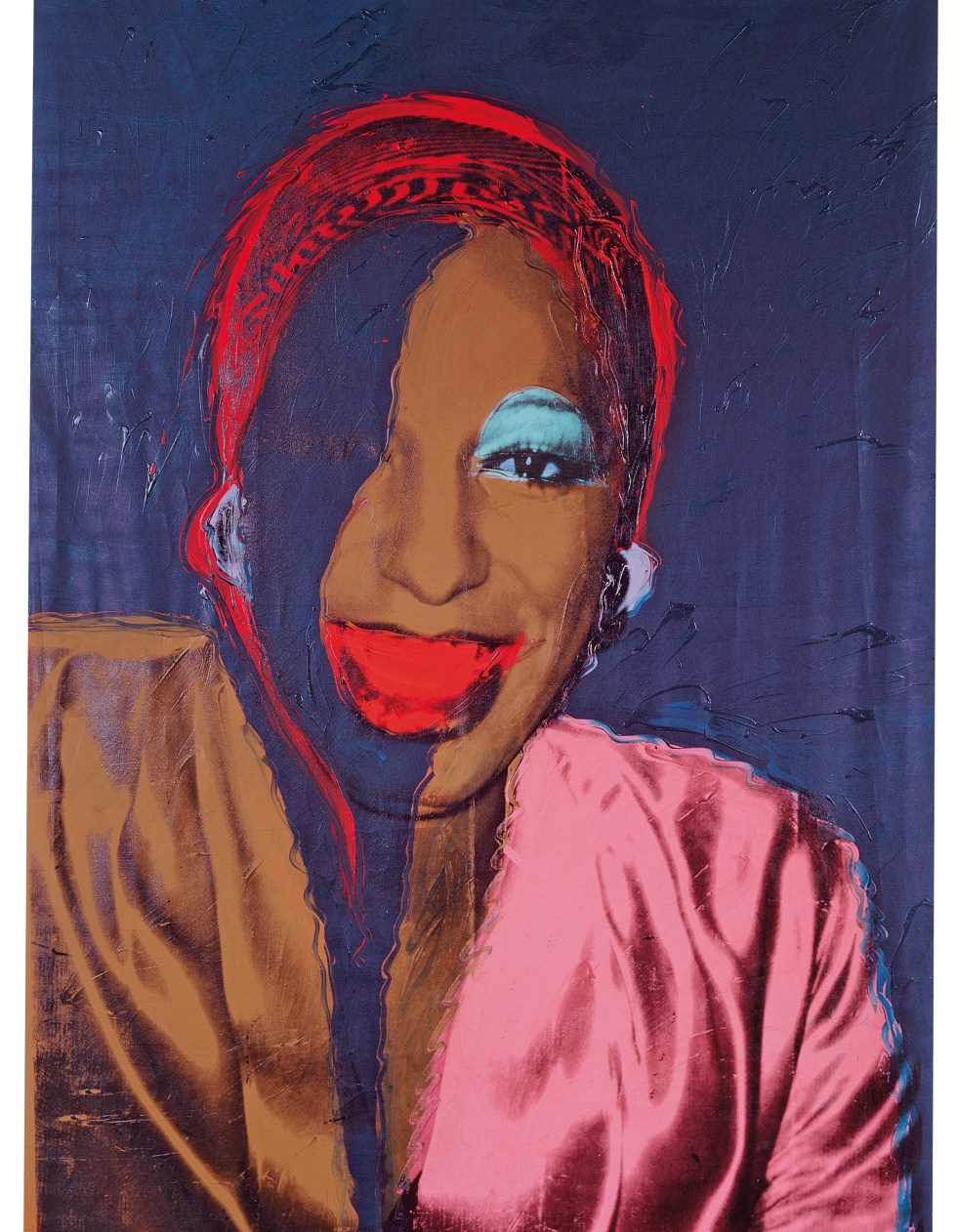 Andy Warhol (1928–1987), Ladies and Gentlemen (Wilhelmina Ross), 1975. Acrylic and silkscreen ink on linen, 120 x 80 in. (304.8 x 203.2 cm). Fondation Louis Vuitton, Paris © The Andy Warhol Foundation for the Visual Arts, Inc. / Artists Rights Society (ARS) New York