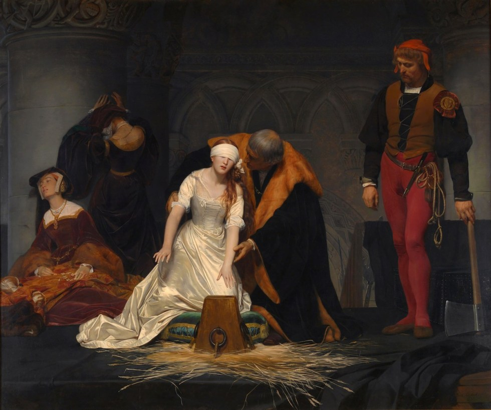The Execution of Lady Jane Grey painting created by Paul Delaroche