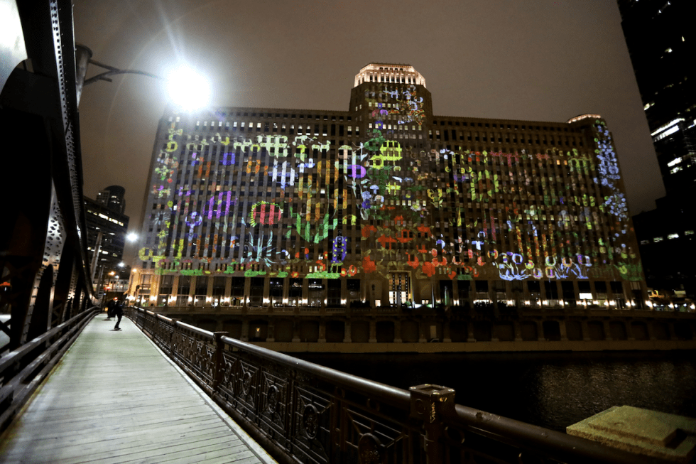"""Art on theMART"" installation in Chicago hosts works created by Jan Tichy."