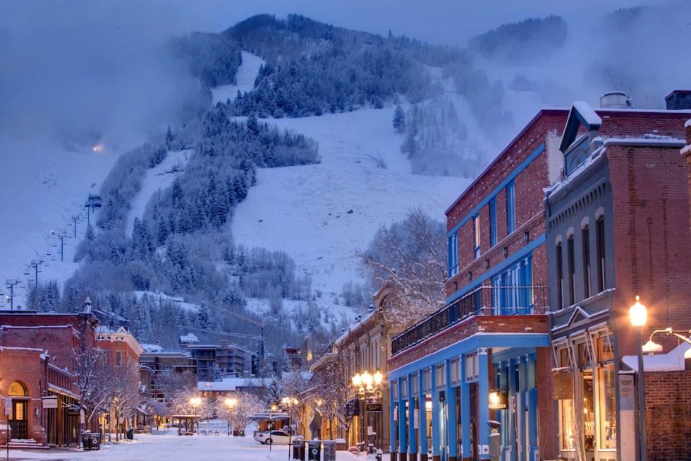 The ski town of Aspen, in Colorado, USA.