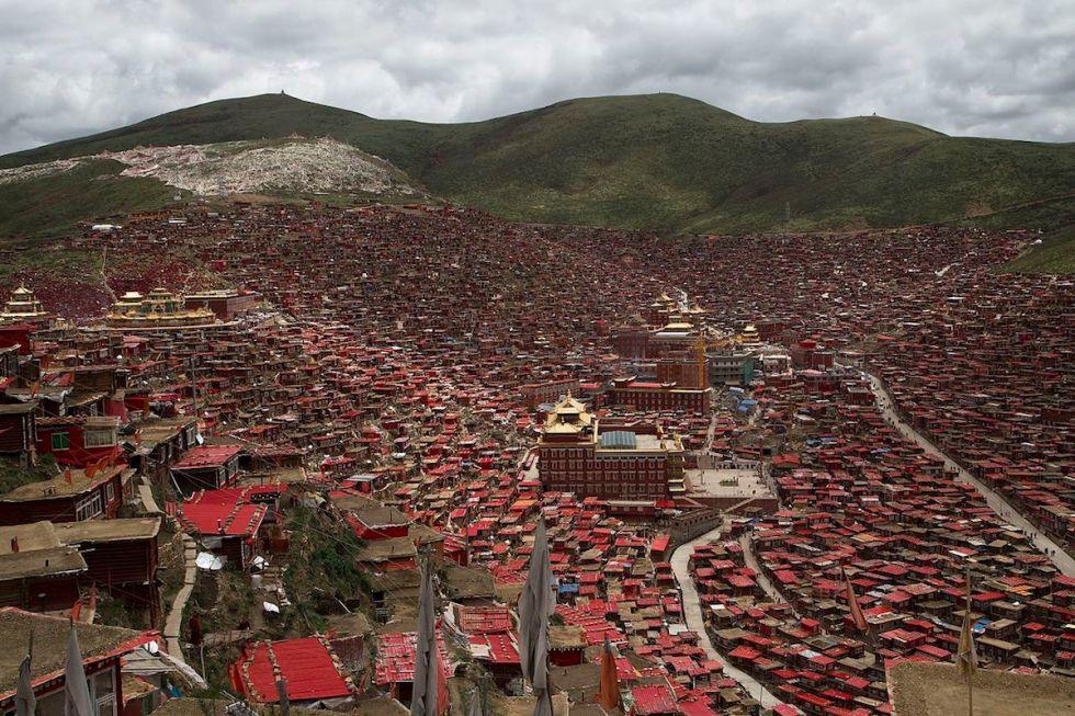 Larung Gar Buddhist Academy in China's Sichuan province.
