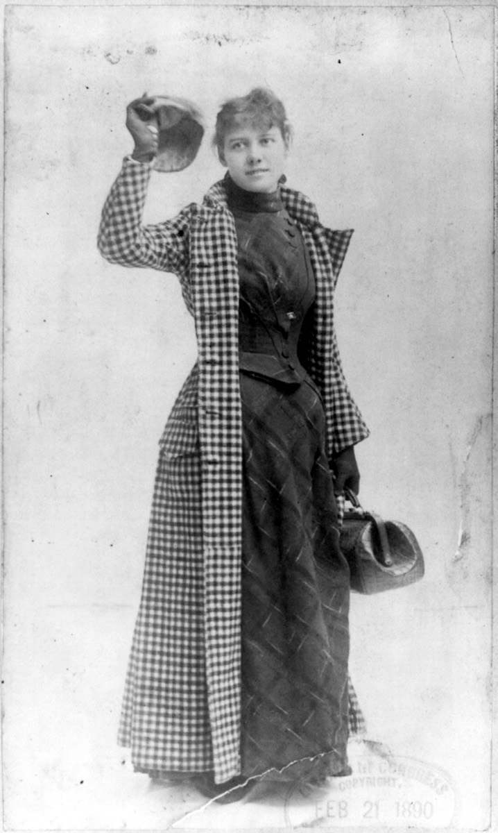 Journalist Nellie Bly, 1890