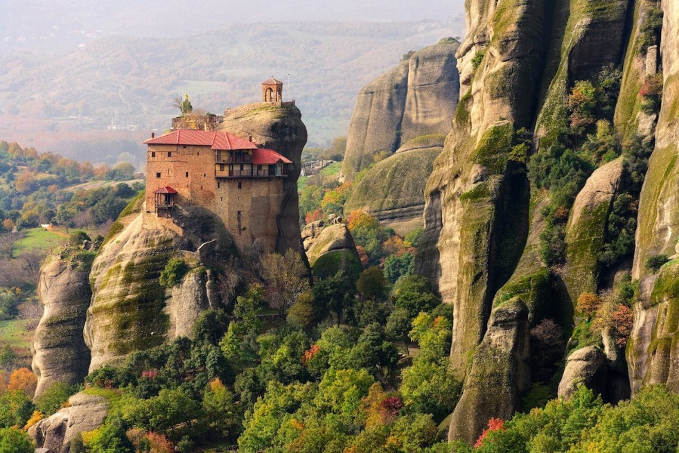Meteora monasteries in central Greece.