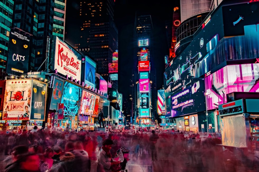 Times Square in New York City, United States.