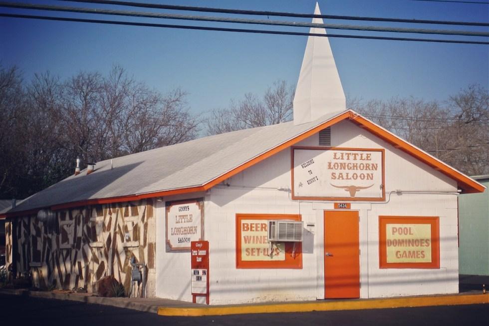 Ginny's Little Longhorn Saloon in Austin, Texas.