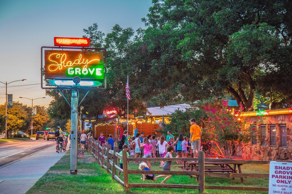 The Shady Grove restaurant in Austin, Texas.