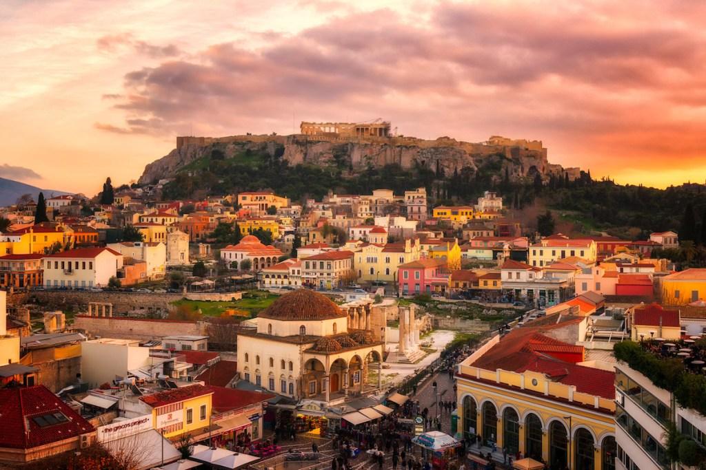 Monastiraki Square in Athens, Greece.