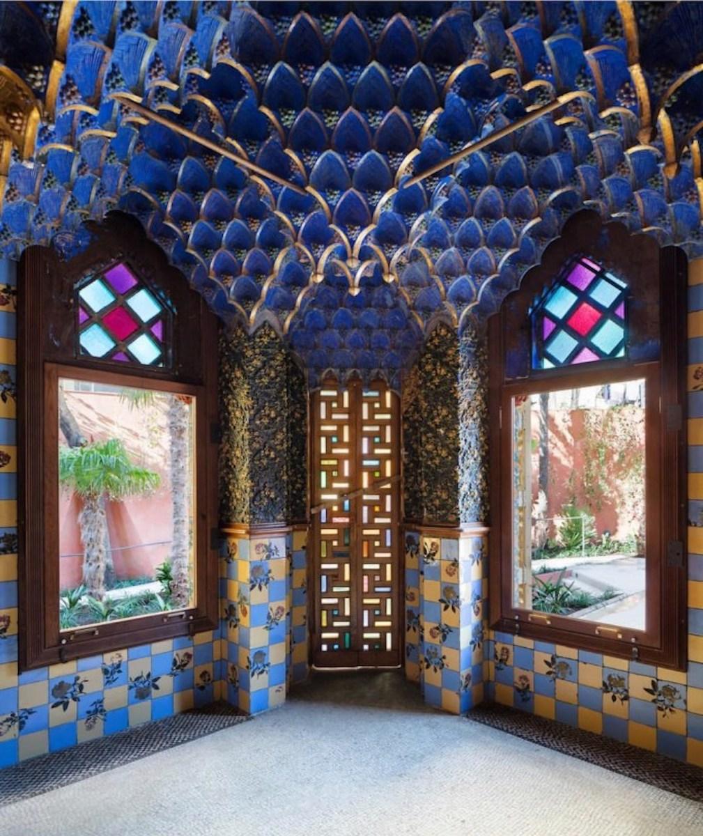 Inside Casa Vicens in Barcelona, Spain.