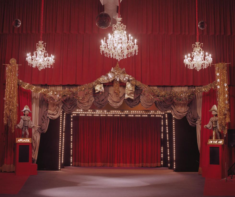 The interior of the old Bob Baker Marionette Theater in Los Angeles, California.
