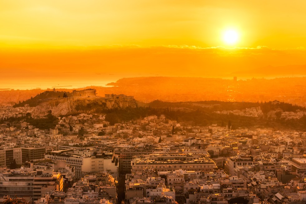 Athens, the capital of Greece.
