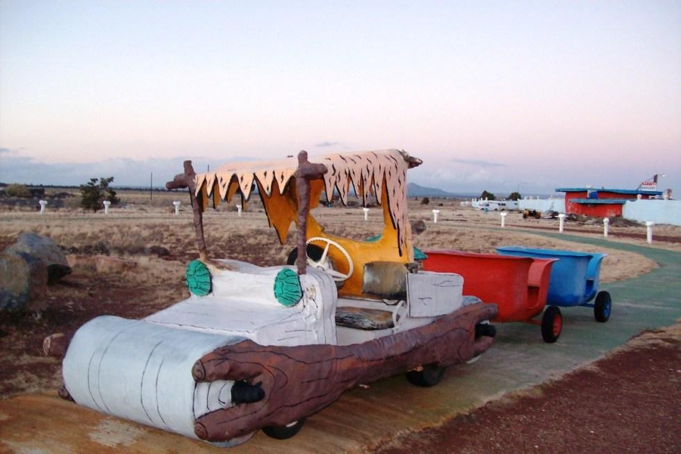 car, Flintstones Bedrock City, Arizona