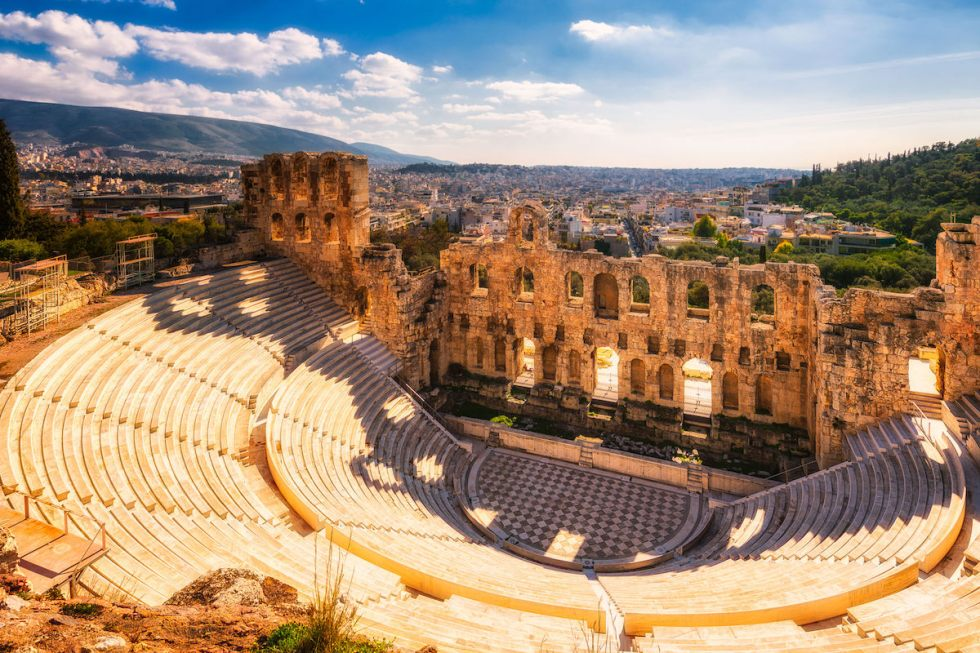 Odeon of Herodes Atticus in Athens, Greece.
