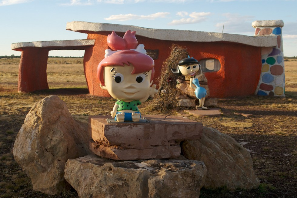 Pebbles and Betty, Flintstones Bedrock City, Arizona