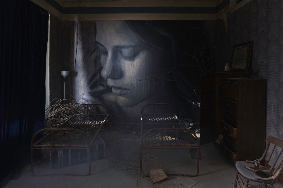Empire art installation created by Rone.