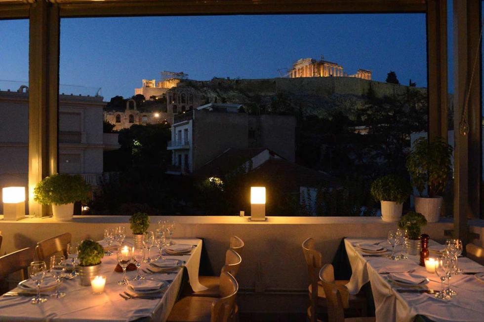 Strofi restaurant in Athens, Greece.
