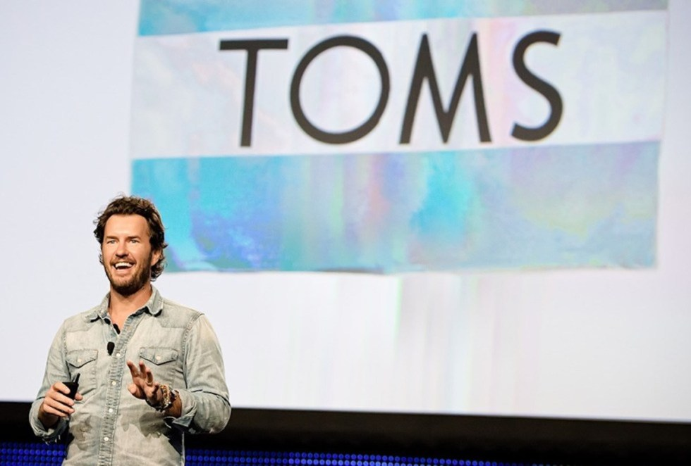Texas-born founder and Chief Shoe Giver of TOMS Shoes Blake Mycoskie.