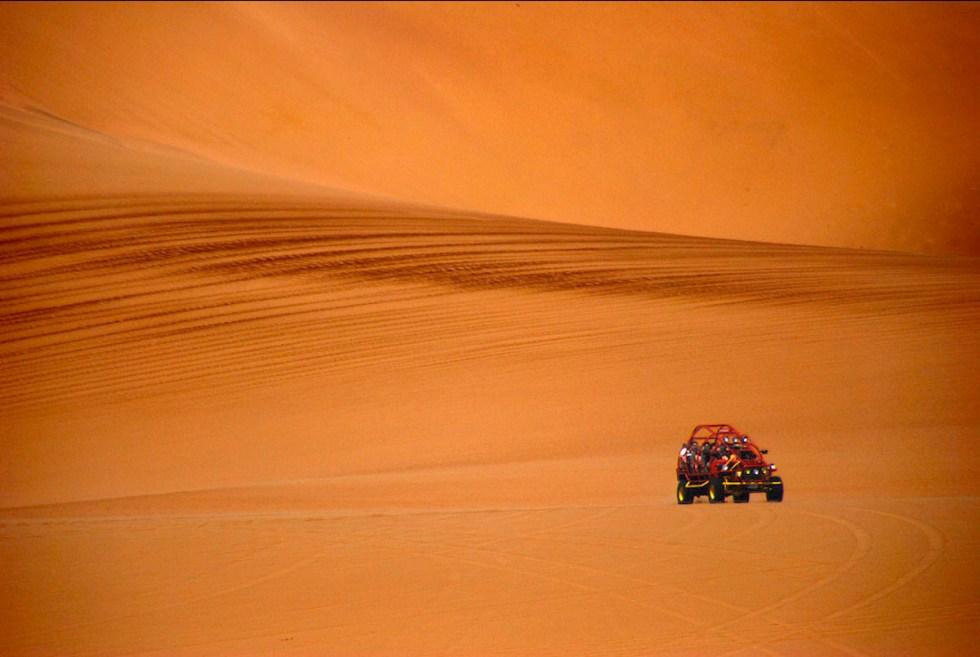 Dune buggy tour in Huacachina, Peru.