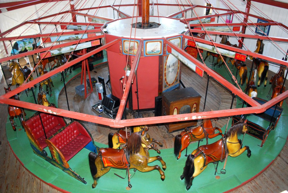 Flying Horses Antique Carousel in Brenham, Texas.