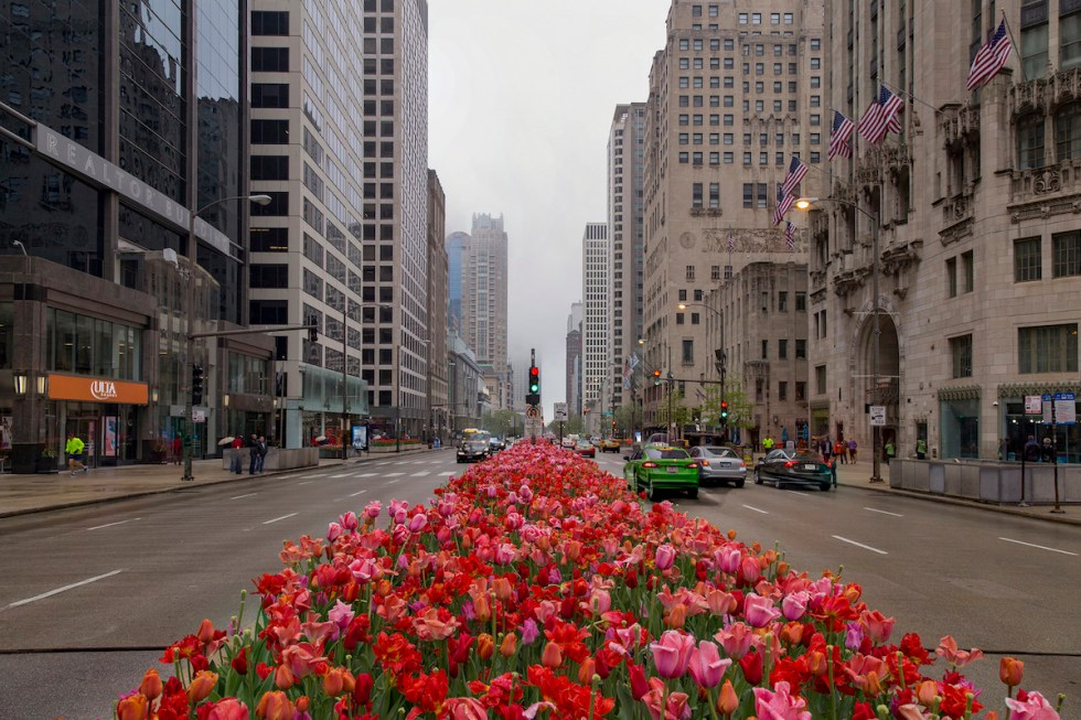 Michigan Avenue in Chicago, United States.