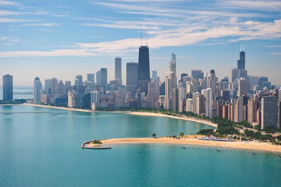 North Avenue Beach in Chicago, United States.