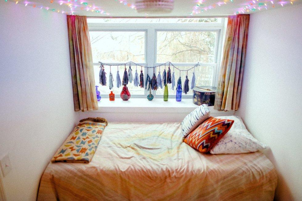 The Backpackers Dream bedroom, The Funky Loft, Bushwick, Brooklyn, New York.