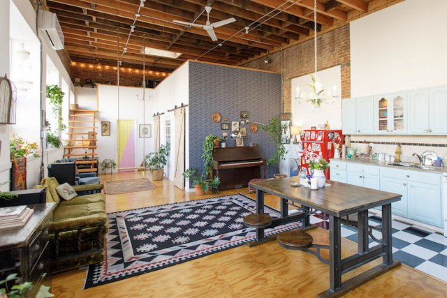 The Funky Loft in Bushwick, Brooklyn, New York.