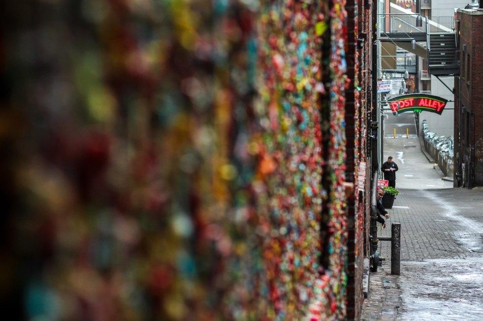 The Gum Wall in Seattle, Washington.