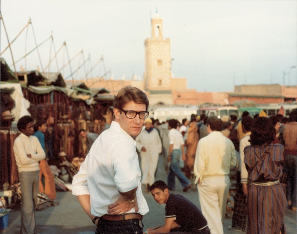 Yves Saint Laurent captured at Place Djemaa El Fna, Marrakech.