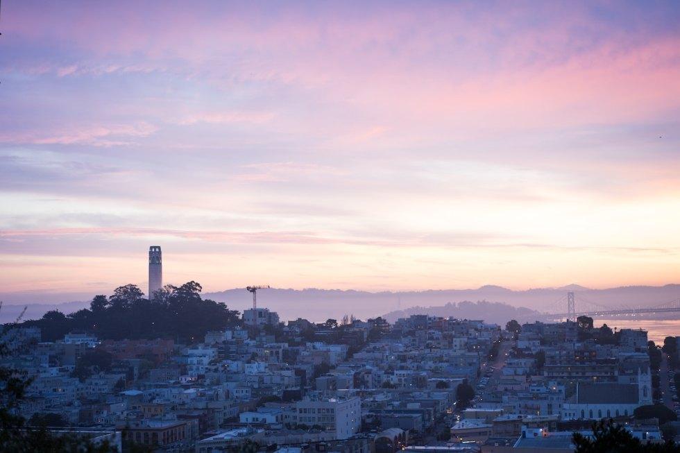 San Francisco, California at sunset