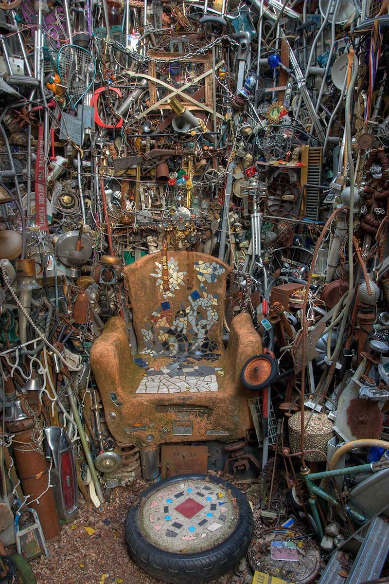 """Throne Room"" in Cathedral of Junk in Austin, Texas"