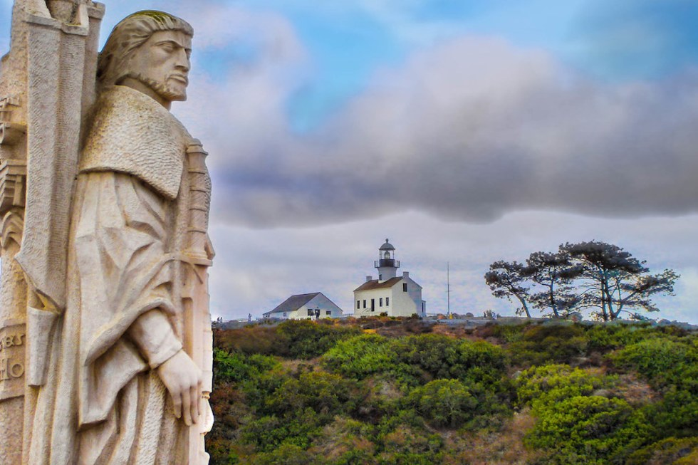Cabrillo National Monument and Lighthouse in San Diego, California