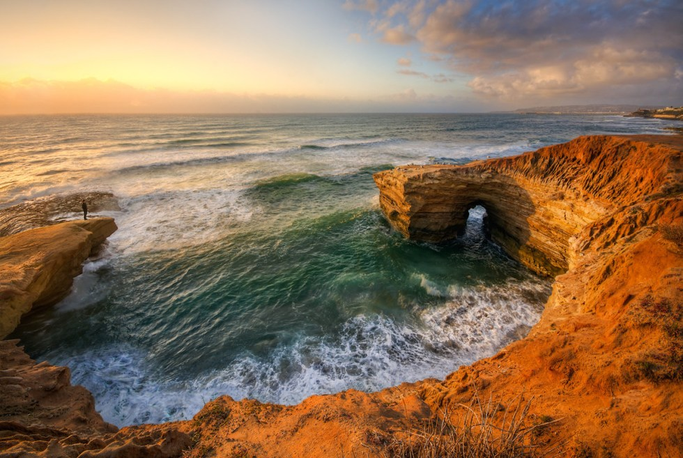 Sunset Cliffs Natural Park in San Diego, California