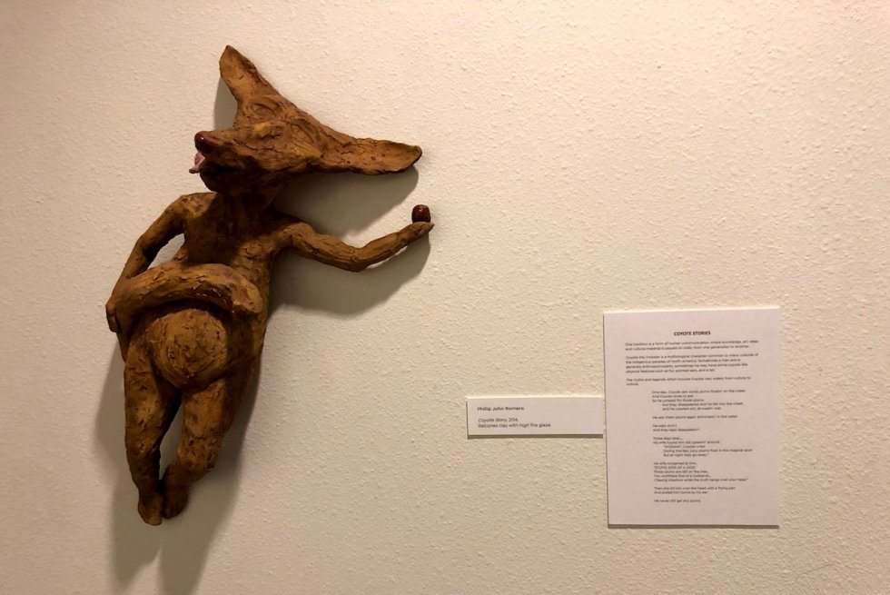 Artwork depicting a coyote