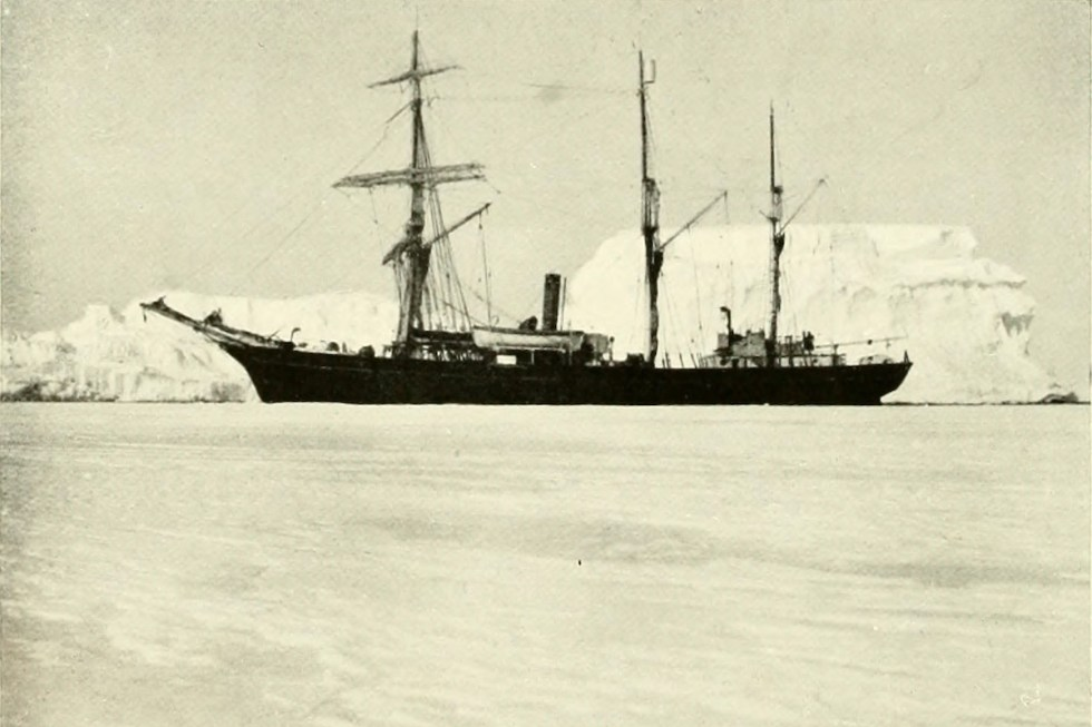 "The ship ""Nimrod"" that Ernest Shackleton used during his British Imperial Antarctic Expedition"