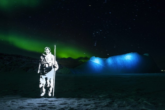 """The Blue Rock,"" part of Fabrice Wittner's ecologically conscious project ""The Northern Lights"""